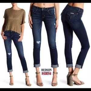 "NWT Hudson ""Bacara"" Straight Cuffed Jeans sz 26"